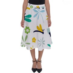 Busy Dragonflies Perfect Length Midi Skirt