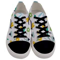 Busy Dragonflies Men s Low Top Canvas Sneakers