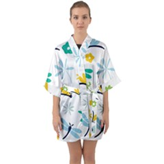 Busy Dragonflies Quarter Sleeve Kimono Robe by allthingseveryday