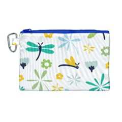 Busy Dragonflies Canvas Cosmetic Bag (large) by allthingseveryday