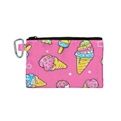 Summer Ice Creams Flavors Pattern Canvas Cosmetic Bag (small) by allthingseveryday