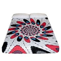 High Contrast Twirl Fitted Sheet (king Size) by linceazul
