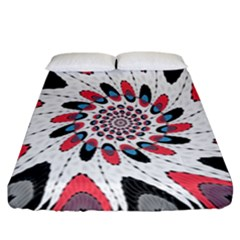 High Contrast Twirl Fitted Sheet (california King Size) by linceazul