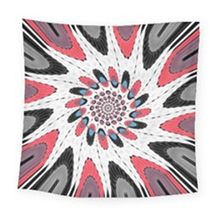 High Contrast Twirl Square Tapestry (large) by linceazul