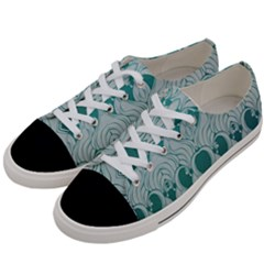 Teal Art Nouvea Women s Low Top Canvas Sneakers by 8fugoso