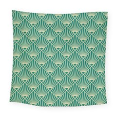 Green Fan  Square Tapestry (large) by 8fugoso