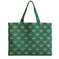 Green Fan  Zipper Mini Tote Bag by 8fugoso