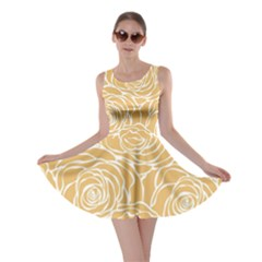 Yellow Peonines Skater Dress by 8fugoso