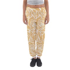Yellow Peonines Women s Jogger Sweatpants by 8fugoso