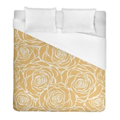 Yellow Peonines Duvet Cover (full/ Double Size) by 8fugoso