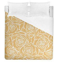 Yellow Peonines Duvet Cover (queen Size) by 8fugoso