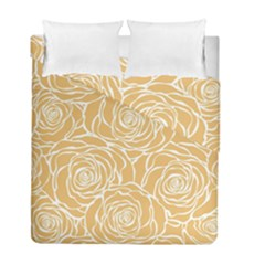 Yellow Peonines Duvet Cover Double Side (full/ Double Size) by 8fugoso