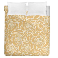 Yellow Peonines Duvet Cover Double Side (queen Size) by 8fugoso