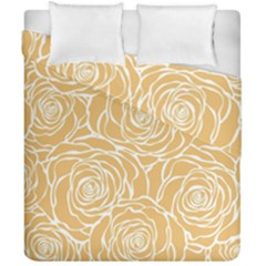 Yellow Peonines Duvet Cover Double Side (california King Size) by 8fugoso