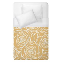Yellow Peonines Duvet Cover (single Size) by 8fugoso