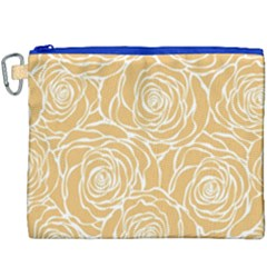 Yellow Peonines Canvas Cosmetic Bag (xxxl) by 8fugoso