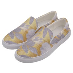Gold Silver Men s Canvas Slip Ons by 8fugoso