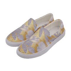 Gold Silver Women s Canvas Slip Ons by 8fugoso