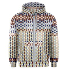 Flower Of Life Pattern 2 Men s Zipper Hoodie