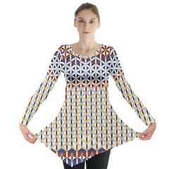 Flower Of Life Pattern 2 Long Sleeve Tunic