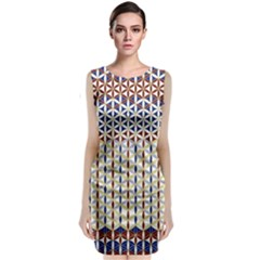 Flower Of Life Pattern 2 Classic Sleeveless Midi Dress