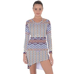Flower Of Life Pattern 2 Asymmetric Cut Out Shift Dress