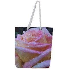 Rose Bag Full Print Rope Handle Tote (large) by Rooboo