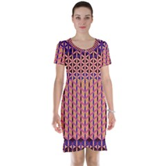 Flower Of Life Pattern 3 Short Sleeve Nightdress