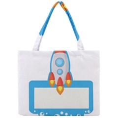 Rocket Spaceship Clip Art Clipart Mini Tote Bag by Celenk