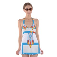Rocket Spaceship Clip Art Clipart Halter Dress Swimsuit