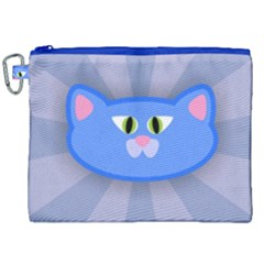 Advertise Animal Boarding Cat Canvas Cosmetic Bag (xxl) by Celenk