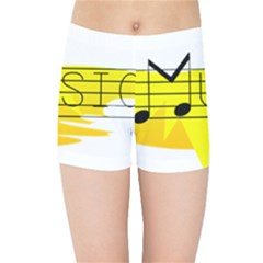 Music Dance Abstract Clip Art Kids Sports Shorts