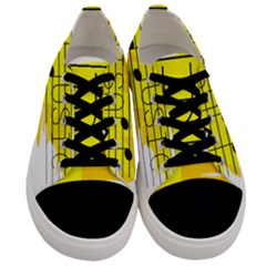 Music Dance Abstract Clip Art Men s Low Top Canvas Sneakers