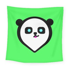 Panda Bear Square Tapestry (large) by Celenk