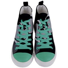 Heart Love Black And White Symbol Women s Mid-top Canvas Sneakers