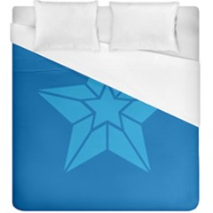 Star Design Pattern Texture Sign Duvet Cover (king Size) by Celenk