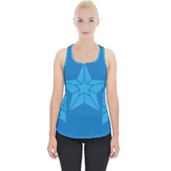 Star Design Pattern Texture Sign Piece Up Tank Top by Celenk