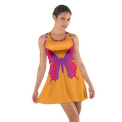 Butterfly Wings Insect Nature Cotton Racerback Dress