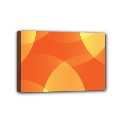 Abstract Orange Yellow Red Color Mini Canvas 6  X 4  by Celenk
