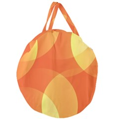 Abstract Orange Yellow Red Color Giant Round Zipper Tote