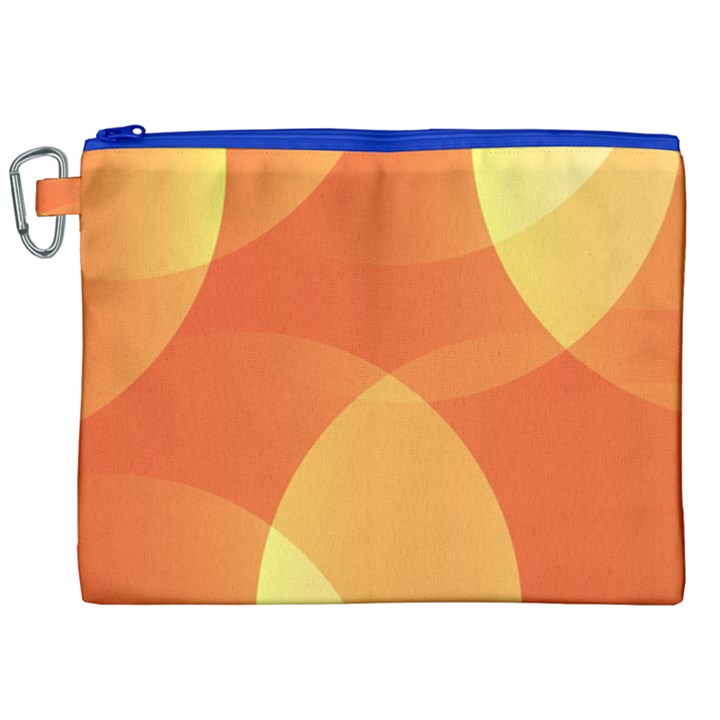 Abstract Orange Yellow Red Color Canvas Cosmetic Bag (XXL)