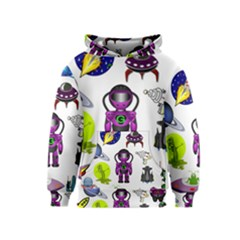 Space Clip Art Aliens Space Craft Kids  Pullover Hoodie by Celenk