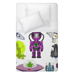 Space Clip Art Aliens Space Craft Duvet Cover (single Size) by Celenk