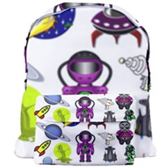 Space Clip Art Aliens Space Craft Giant Full Print Backpack