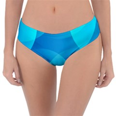 Abstract Blue Wallpaper Wave Reversible Classic Bikini Bottoms by Celenk