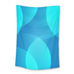 Abstract Blue Wallpaper Wave Small Tapestry