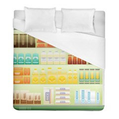 Supermarket Shelf Coffee Tea Grains Duvet Cover (full/ Double Size) by Celenk