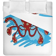 Octopus Sea Ocean Cartoon Animal Duvet Cover Double Side (king Size)