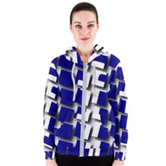 Facebook Social Media Network Blue Women s Zipper Hoodie by Celenk