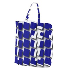 Facebook Social Media Network Blue Giant Grocery Zipper Tote